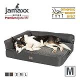 JAMAXX Premium 2-in-1 Hunde-Sofa - Orthopädische Memory Visco Füllung, Abnehmbare Polster und...