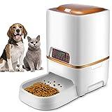 Sailnovo Futterautomat, Automatischer Futterspender für Katze und Hund, Pet Feeder mit Timer, LCD...