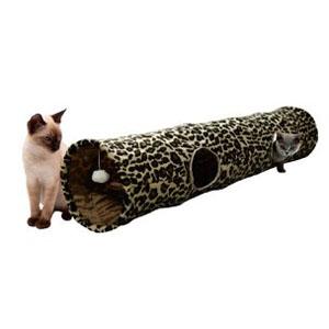 Katzentunnel mit Leopardenmuster