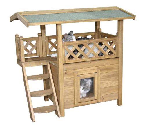 Outdoor Katzenhaus Katzenhütte für draußen wetterfest & für den Winter